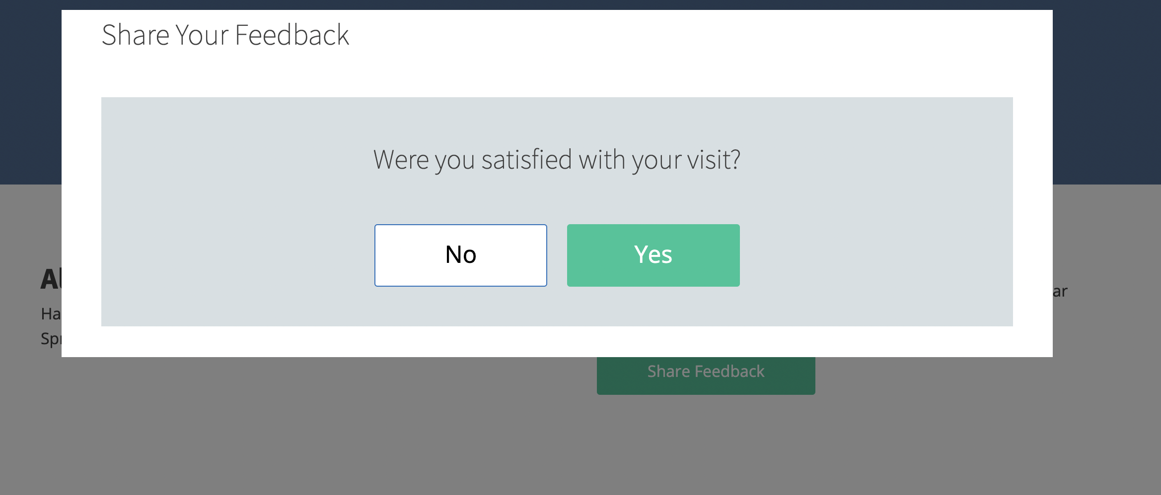 Share Patient Feedback Modal